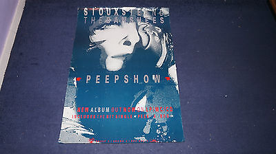 Siouxsie and The Banshees - Peekaboo - UK Promo Poster