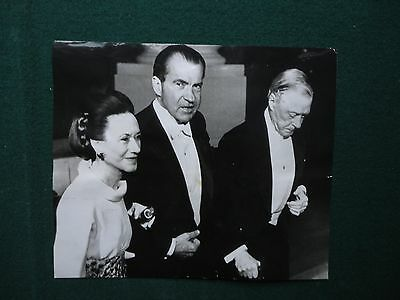 Original Press Photo of the Duke & Duchess of Windsor President Nixon USA 1970