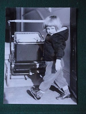 Press Photo of Princess Diana Lady Spencer as a Young Girl with a Pram Birthday