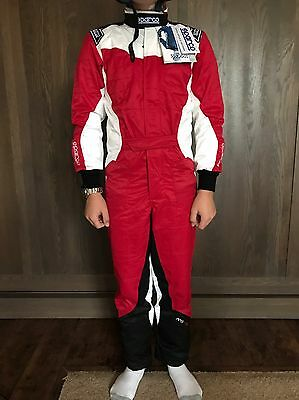 Sparco KS5 Kart Suit Child Size 150 Red New, In Original Packaging