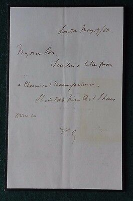 Signed Letter British Liberal Statesman Granville Leveson-Gower Earl Granville