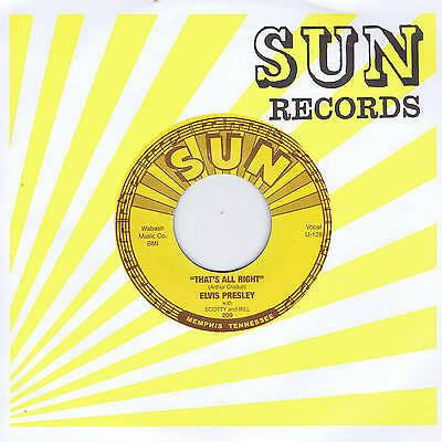 ELVIS PRESLEY - THAT'S ALL RIGHT (Mama) / BLUE MOON OF KENTUCKY (Re-issue 45)