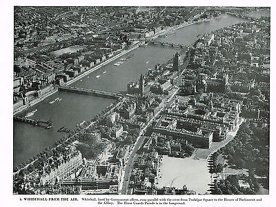 Whitehall From The Air - Vintage 1950s Photographic Print #4552667