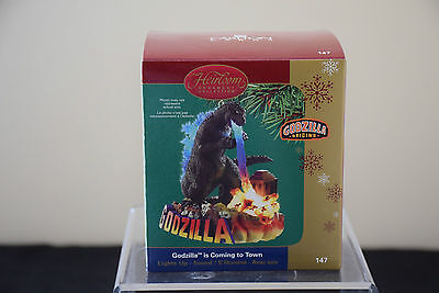 LAST ONE! Carlton Ornament -Godzilla Is Coming to Town- 2005 - 1st in Series-NEW