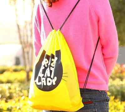 New Yellow Portable Travel Drawstring Fitted Shoe Clothes Storage Waterproof Bag
