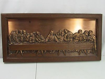 Mid-Century Modern Coppercraft Guild THE LAST SUPPER Copper Wall Art FREE SHIP!