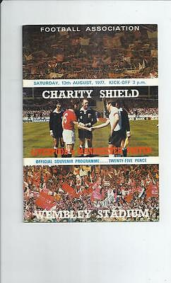 Liverpool v Manchester United Charity Shield Football Programme 1977