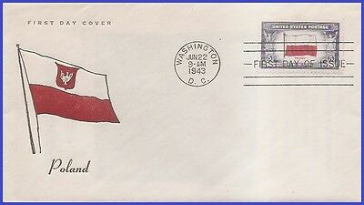 US # 909 U/A FIDELITY FDC   Flag of Poland