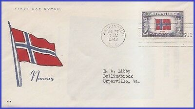 US # 911 ADDR FIDELITY FDC   Flag of Norway