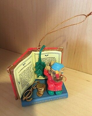 Ornament Christmas Carol Story Book Sleepy Time Reader Mouse By Westmar 1996