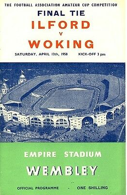 FA AMATEUR CUP FINAL 1958: Ilford v Woking