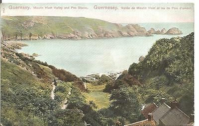 Lovley Vintage Early Postcard,moulin Huet Valley And Pea Stacks,guernsey