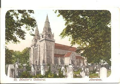 Lovley Very Old Vintage Postcard,st Machar's Cathedral,aberdeen