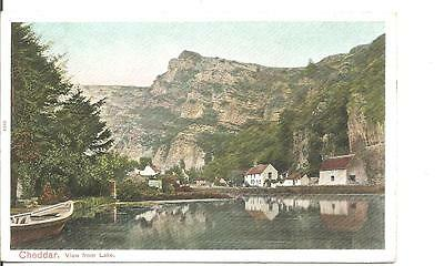 Lovley Very Old Vintage Postcard,cheddar View From The Lake,somerset,1903