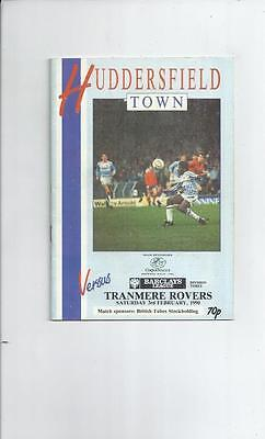 Huddersfield Town v Tranmere Rovers Football Programme 1989/90