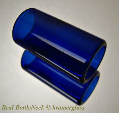 The Real BottleNeck Guitar Slide Hand Polished Soda-Lime Glass  2 1/4  60mm