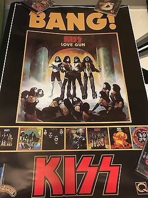 Kiss Love Gun Canadian Quality Records Reproduction  Promo Poster!!