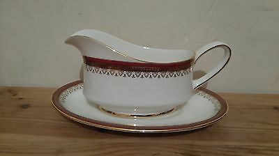 Royal Albert Gravy Boat and Saucer in the Holyrood Pattern - 1st Quality