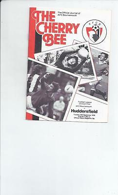 Bournemouth v Huddersfield Town Football Programmes 1978/79