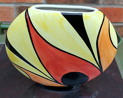 Lorna Bailey Vintage Flame Wafer Vase In Mint Condition.