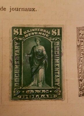 US Early 1898 $1 Revenue Stamp