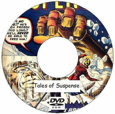 Tales of Suspense Comics 99 Issues on DVD silver age 1959 - 1968