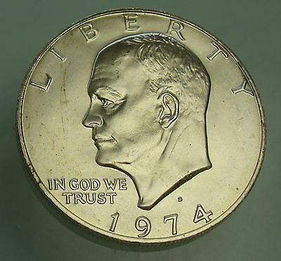 1974-S Eisenhower Uncirculated Dollar 40% Silver Coin $1, Item# 4062