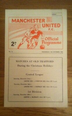 Manchester United V Barrow. F A Youth Cup 1963/64 George Best. RARE.