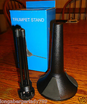 New Trumpet Cornet Stage Studio Stand Compact Folding Display Holder Floor Music