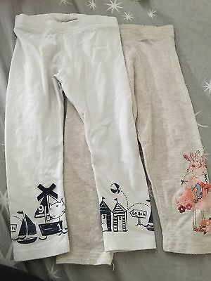 L@@k  2 Girls Next Leggings Both Size 1.5-2 Years A Must See