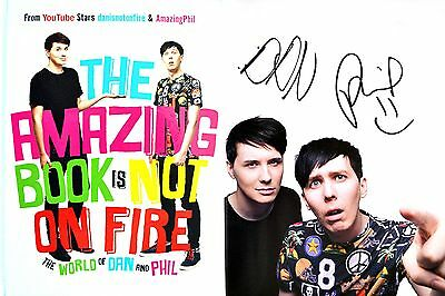 Dan and Phil~SIGNED~The Amazing Book is Not On Fire~1st Edition + Photos!