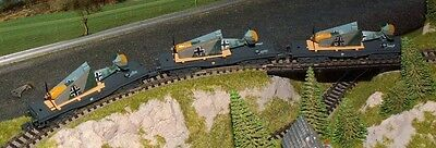 3 x German Military flatbed wagon with 109 as load     by ARNOLD       N Gauge