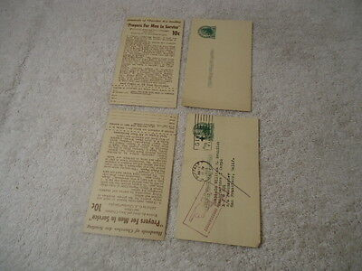 """Devotional Life Press 1951 post card for ordering """"Prayers for Men in Service"""""""
