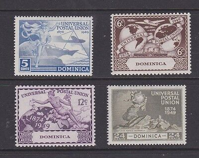 Stamps Dominica 1949 MH UPU set