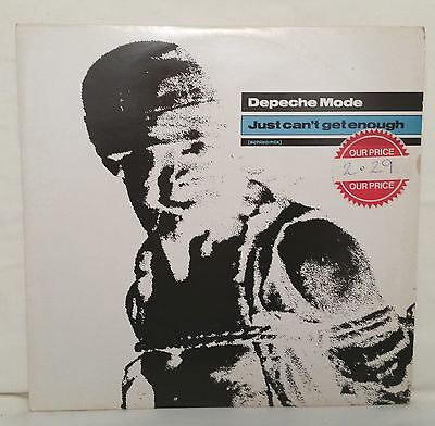 "2 Depeche Mode ~ Just Can't Get Enough & Leave in Silence ~ UK Vinyl 12"" VG+/VG+"