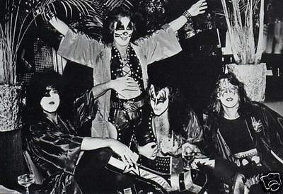 KISS VINTAGE PHOTO 1970's GENE SIMMONS PAUL STANLEY ACE FREHLEY PETER CRISS