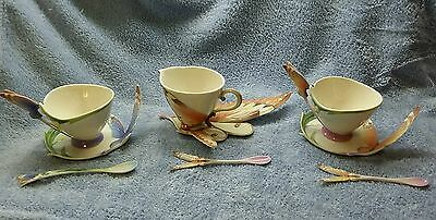 Franz porcelain Cups and saucersand spoons