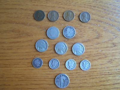 Lot of old/obsolete USA coins w/ silver
