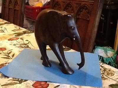 large hardwood carved elephant collectable