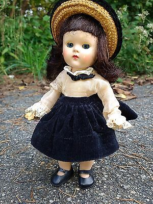 Vintage Strung Ginny Doll Long Hair Early In Transitional Era 1952 Series Outfit