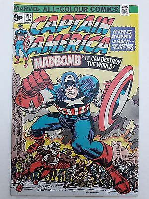 CAPTAIN AMERICA #193, 1976, VG/FN 5.0, *The Return of Jack Kirby with Madbomb!*