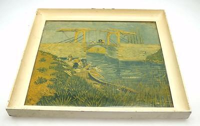 Dutch Scene Colour Study Painting Print - Landscape Image of a Picture Framed