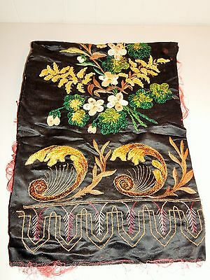 Fabulous Antique Embroidered & Hand Work  Table Runner