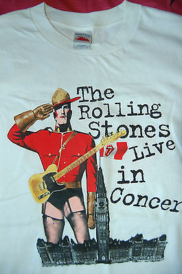 Rolling Stones Very RARE 2005 Canada Tour T Shirt, Never Used