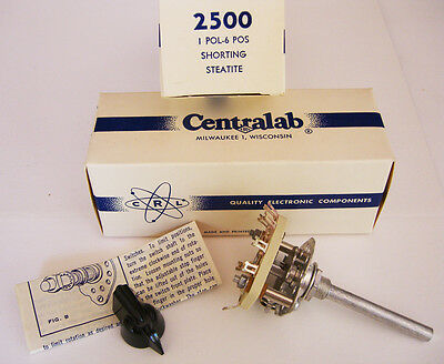 2 NOS 2500 Centralab Switch