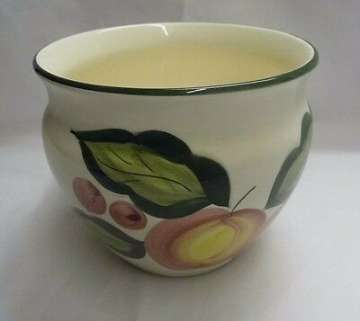 """Colourful white china pot suitable for plant 5.5"""" x 6"""""""