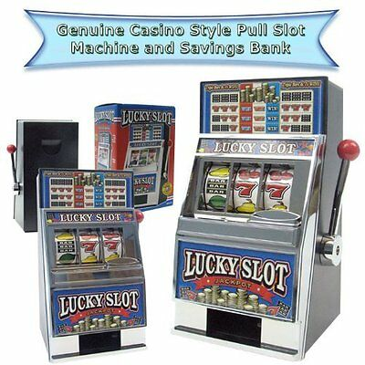 Lucky Slot Machine Bank, Home-Casino Adults Play. Las Vegas Coin Toy Jackpot New