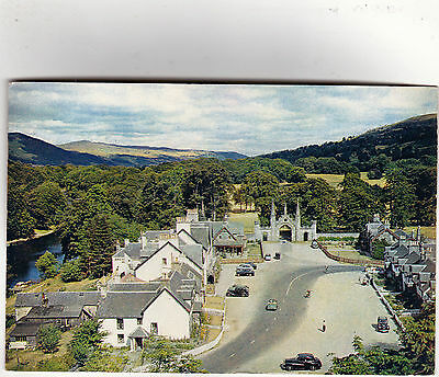 Kenmore, Scotland -  1950's cars in Perthshire village, posted 1964