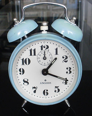 Vintage Junghans Alarm Clock Mechanical Germany Rare Model Twin Bells Working