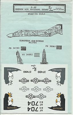 Repliscale Decals 48-5007 F-4D Phantom decals in 1:48 Scale